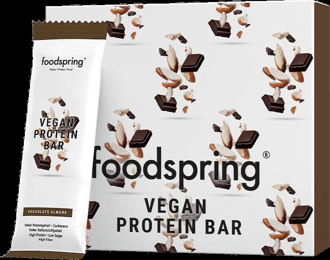 foodspring barretta proteica vegana senza zucchero