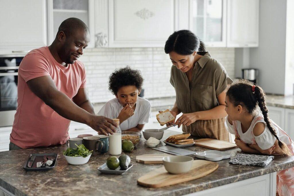cucina in famiglia