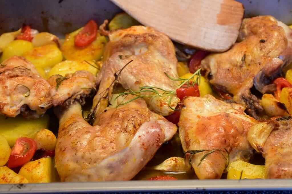 pollo fritto in friggitrice ad aria